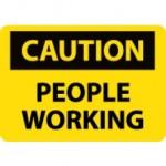 OSHA CAUTION People Working Safety Sign