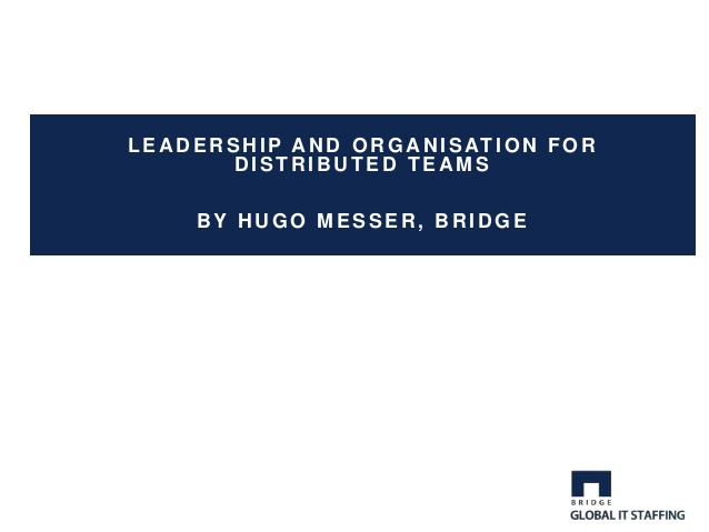 leadership and organisation for distributed teams 1 638