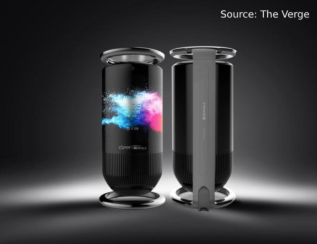 Royole Mirage Smart Speaker CES 2020