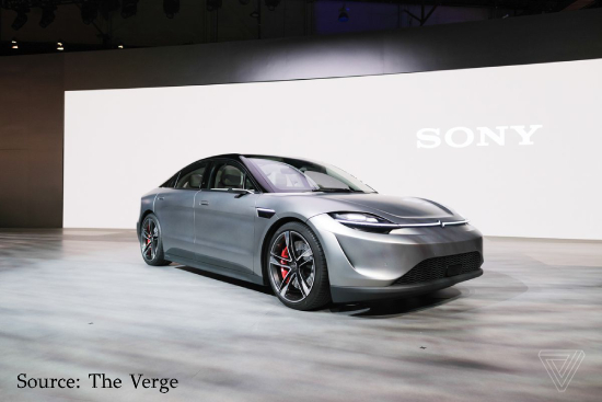 Sony's Vision-S concept electric car CES 2020