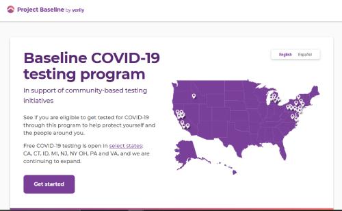 Baseline COVID 19 Google corona screening site