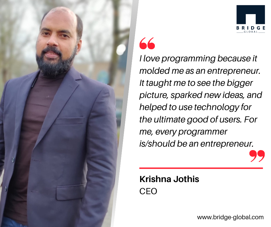 Why We Love Programming - Krishna Jothis CEO-Programmers dayip
