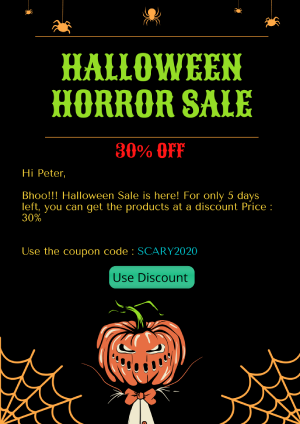 Give your email template a spooky look  to lend a Halloween vibe