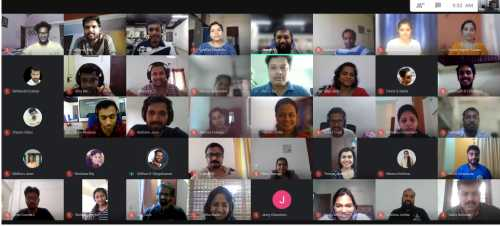 Meetings and celebrations went virtual during the pandemic lock-down in Bridge Global