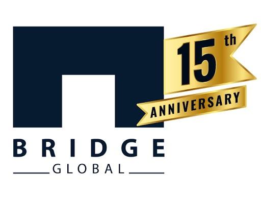 15th anniversary logo bridge global