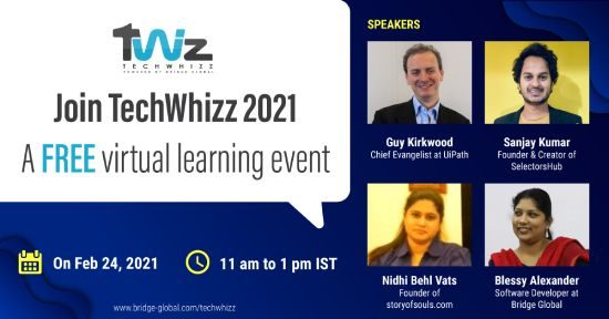 TechWhizz free learning event Speakers