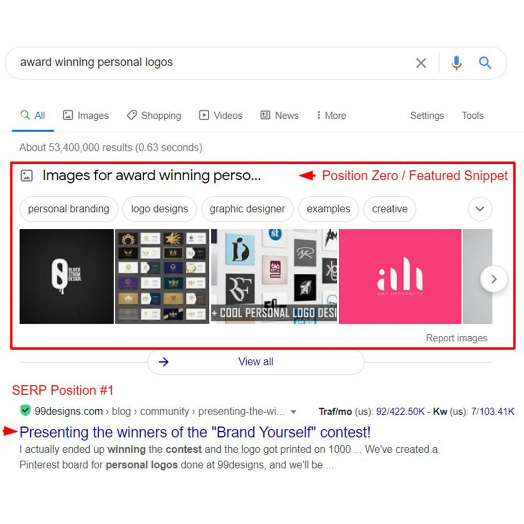 Featured snippets 1 -11 Trends in Digital Marketing in 2021