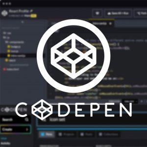 CodePen full stack development tools
