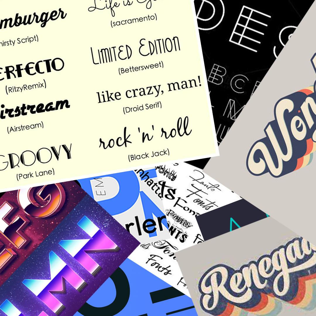 Retro Fonts - latest web design techniques