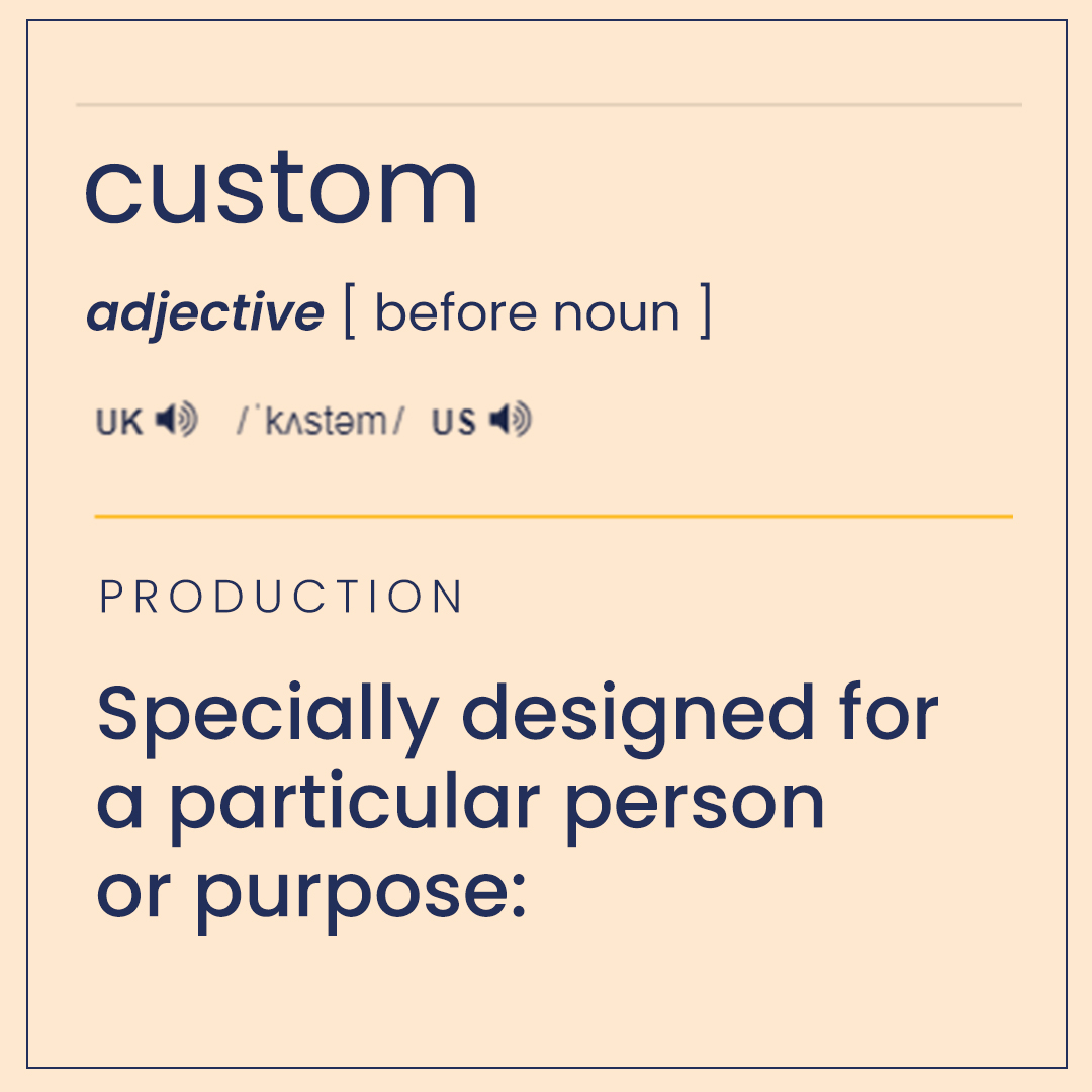 meaning of custom in cusstom software development